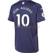 maillot de foot Premier League Manchester City 2017-18 Kun Aguero 10 maillot third..